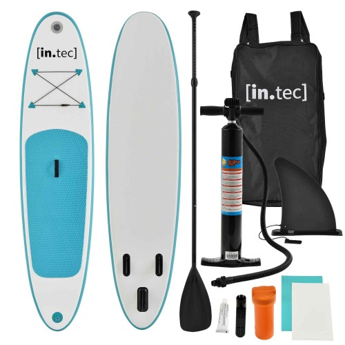 Marca do fabricante - Prancha Stand Up Paddle 10 - Kit Completo SUP - 305 x 71 x 10cm - Turquesa